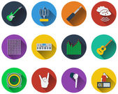 Set of musical icons — Stock Vector