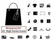 24 购物图标 — 图库矢量图片