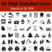 Medical and SPA Smooth Icons — Stock Vector