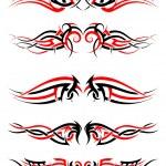 Set of Tribal Tattoos — Stock Vector #83580644