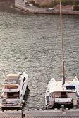 Yacht in a port. Crimea. Sevastopol — Stock Photo