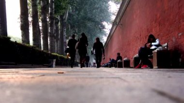 Peaceful scene in the holiday afternoon,near Tiananmen Square in Beijing, China — Stock Video