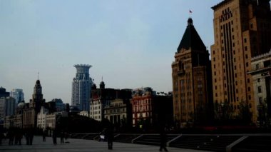 Old-fashion architecture in Shanghai Bund, China — Stockvideo