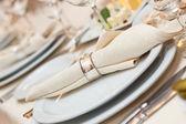 婚礼餐巾装饰 — 图库照片