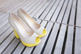 Yellow shoes — Stock Photo