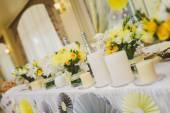 Wedding table decor — Stock Photo