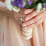 Wedding bouquet, manicure — Stock Photo #69558465
