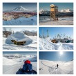 Kamchatka Peninsula collage. Far East, Russia — Stock Photo #52430899