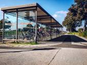 Bicycle parking area — Stock Photo