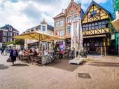 Day view of market square of Sittard — Stock Photo