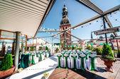 Wedding ceremony outdoors — Stock Photo