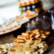 Trays with various appetizers close-up — Stock Photo #55301637