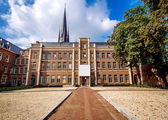 Exterior of Basilica located in historic centre of Sittard. — Stock Photo