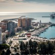 Aerial view of Malaga port. Spain — Stock Photo #57645243