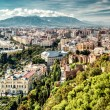 Panoramic view of Malaga city. Andalusia, Spain — Stock Photo #57645277
