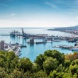 Panorama of Malaga seaport. Spain — Stock Photo #57645281