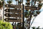 Tourist signpost in Malaga. Andalusia, Spain  — Stock Photo
