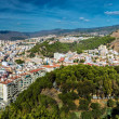 Panorama of Malaga city, view from the Gibralfaro fortress — Stock Photo #57884041
