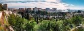 Panorama of Malaga city. Andalusia, Spain — Stock Photo