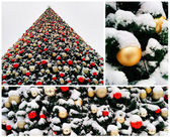 Collage of christmas tree — Fotografia Stock