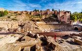 The Roman Theatre in Malaga. Andalusia, Spain — Stock Photo