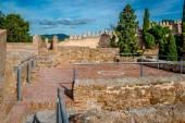 Gibralfaro fästning (Alcazaba de Malaga). Malaga stad. Spanien — Stockfoto