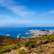 Los Cristianos and La Gomera, view from Guaza mountain. Tenerife — Stock Photo #66202121