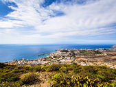 Los Cristianos and Las Americas, view from Guaza mountain — Stock Photo