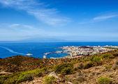 Los Cristianos and La Gomera, view from Guaza mountain. Tenerife — Stock Photo