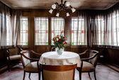 Contemporary dining room design — Stok fotoğraf