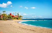 Picturesque coast in Benalmadena town. Malaga, Andalusia, Spain — Stock Photo