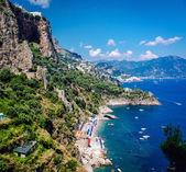 Amalfi Coast. Stunning landscape with hills and Mediterranean sea — Stock Photo