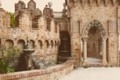Part of Colomares Castle in Benalmadena town. — Stock Photo