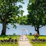 Lakeside wedding ceremony — Stock Photo #81794140