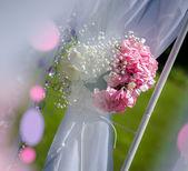 Wedding arch decoration close-up — Stock Photo