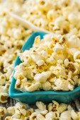 Pile of Popcorn in Plates — Stock Photo