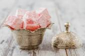 Rose Flavoured Turkish Delight — Stock Photo