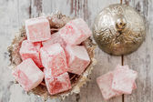 Rose Flavoured Turkish Delight — Foto de Stock