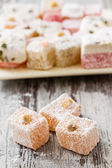 Assortment of Turkish Delight — Stock Photo