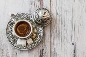традиционный турецкий кофе — Стоковое фото
