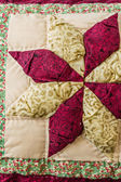Pillow with Patchwork Design — Stock Photo