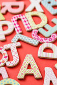 Colorful Letters with Patterns — Stock Photo