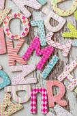 Colorful Letters with Patterns — Stok fotoğraf