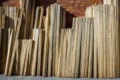 積層の木製のパイン材 — ストック写真