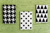 Black and White Geometric Canvases — Stock Photo