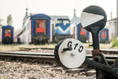 Hand Operated Railroad Switch Near Haydarpasa — Stock Photo