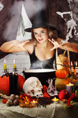 Witch brews a brew — Stock Photo
