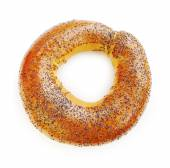 Bagel with poppy seeds — Stock Photo