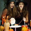 Two beautiful witches, tinted — Stock Photo #54892363