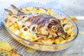 Baked carp with spices — Stock Photo